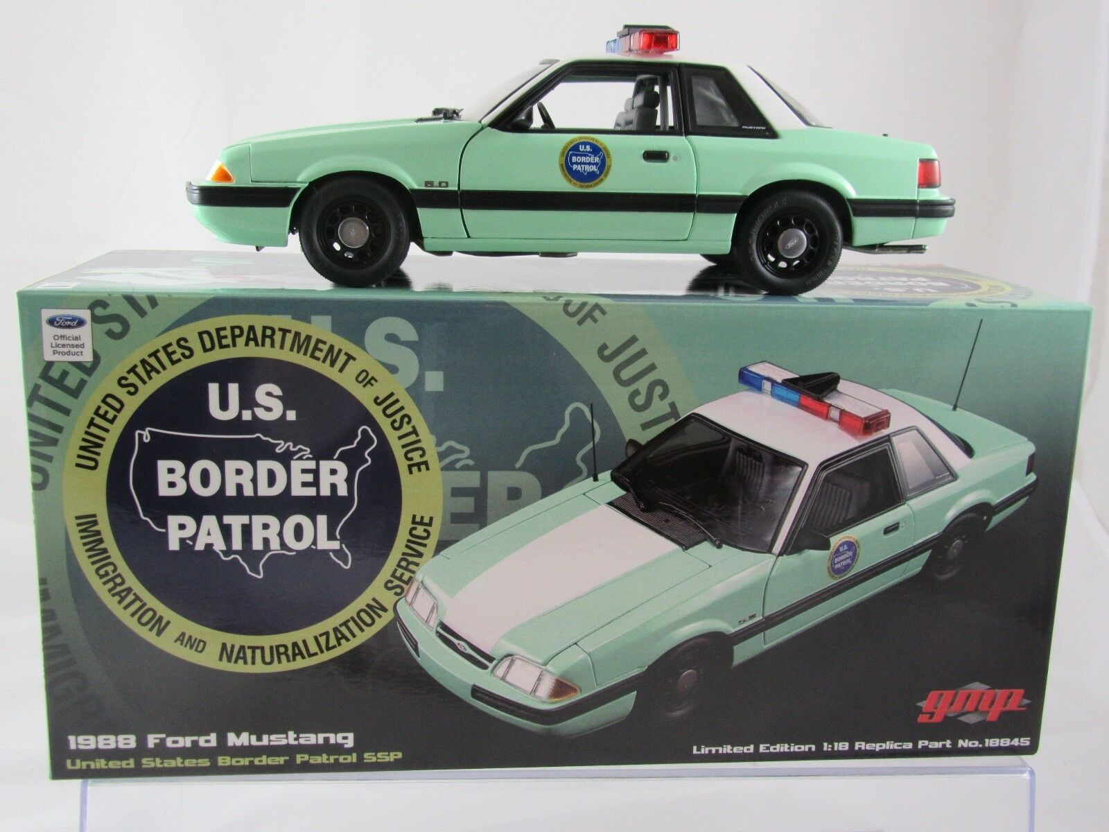 Gmp 1988 ford mustang grenzpatrouille mustang ssp g18845