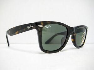 new Ray Ban Original Wayfarer Sunglasses RB2140F 902 Tortoise Green ... b33011ffd2f8e