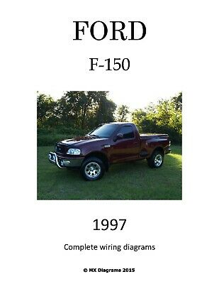 Ford F-150 1997 97 Complete Color Wiring Diagram Schematic ...