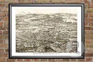 Old-Map-of-Kingston-NY-from-1875-Vintage-New-York-Art-Historic-Decor