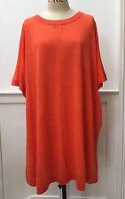 Cos - Bright Orange Knit Tshirt Dress, Size L