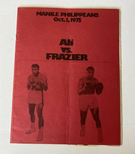 MUHAMMAD ALI vs JOE FRAZIER ORIGINAL PROGRAM MARCH 8, 1971 Thrilla in Manila