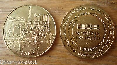 Medal Tourism Tour Eiffel Tower Notre Dame Arc Triumph Edge France Paris 2014