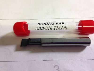 "New 5//16/"" Solid Carbide Boring Bar ABB-318 TiAlN .310/"" Minimum Bore"