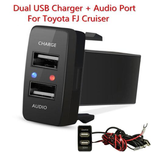 Kfz USB Ladegerät Adapter Audio Stecker Port For Toyota FJ Cruiser 2007-2011