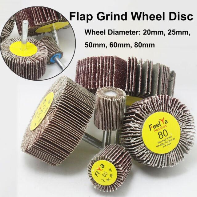 6mm Sanding Flap Wheel Disc Abrasive Grinding Shank For Drill Grit 40