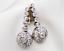 Antique-Vintage-Art-Deco-3-60Ctw-Round-Diamond-Halo-14K-Gold-Over-Earrings thumbnail 1
