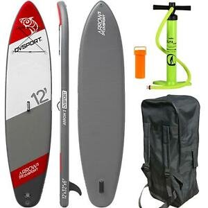SUP-DVSPORT-12-0-366-STAND-UP-PADDLE-SURFBOARD-INFLATABLE-BOARD-PUMPE-ISUP-AQUA
