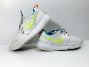 a3c36fe6ea70d NIKE ROSHE ONE GS BIG KIDS YOUTH SHOES WHITE VOLT-RACER PINK 599729 ...