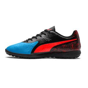 PUMA-Men-039-s-One-19-4-Turf-Soccer-Shoes-Bleu-Azur-Red-Blast-Black