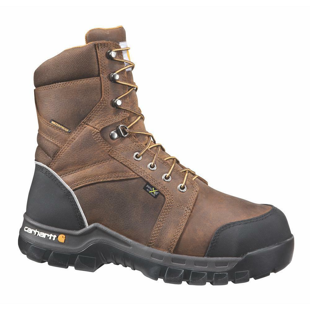 Carhartt Men's 8  Comp Toe Internal Met Guard Waterproof Work Boot - CMF8720