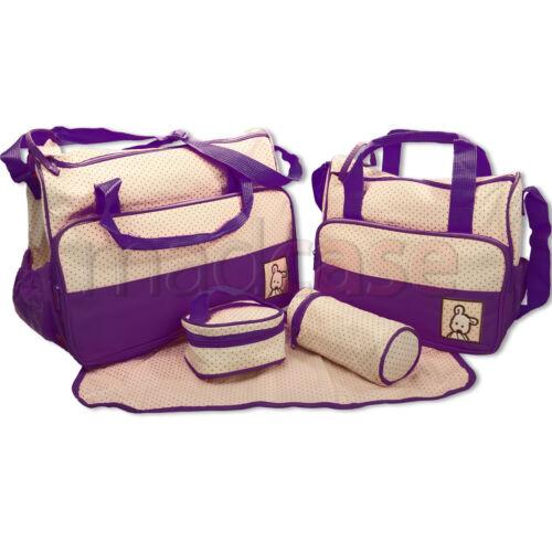 Baby nappy changing bag set 5pcs mummy maternity hospital bag uk