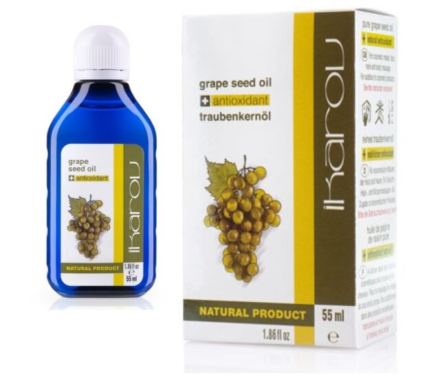100% Pure Natural Essential GRAPE SEED OIL 55ml Ikarov tightens pores, oily skin