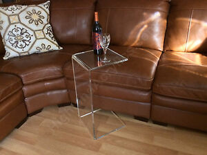Image Is Loading C Table Clear Acrylic Lucite Plexiglass END SIDE