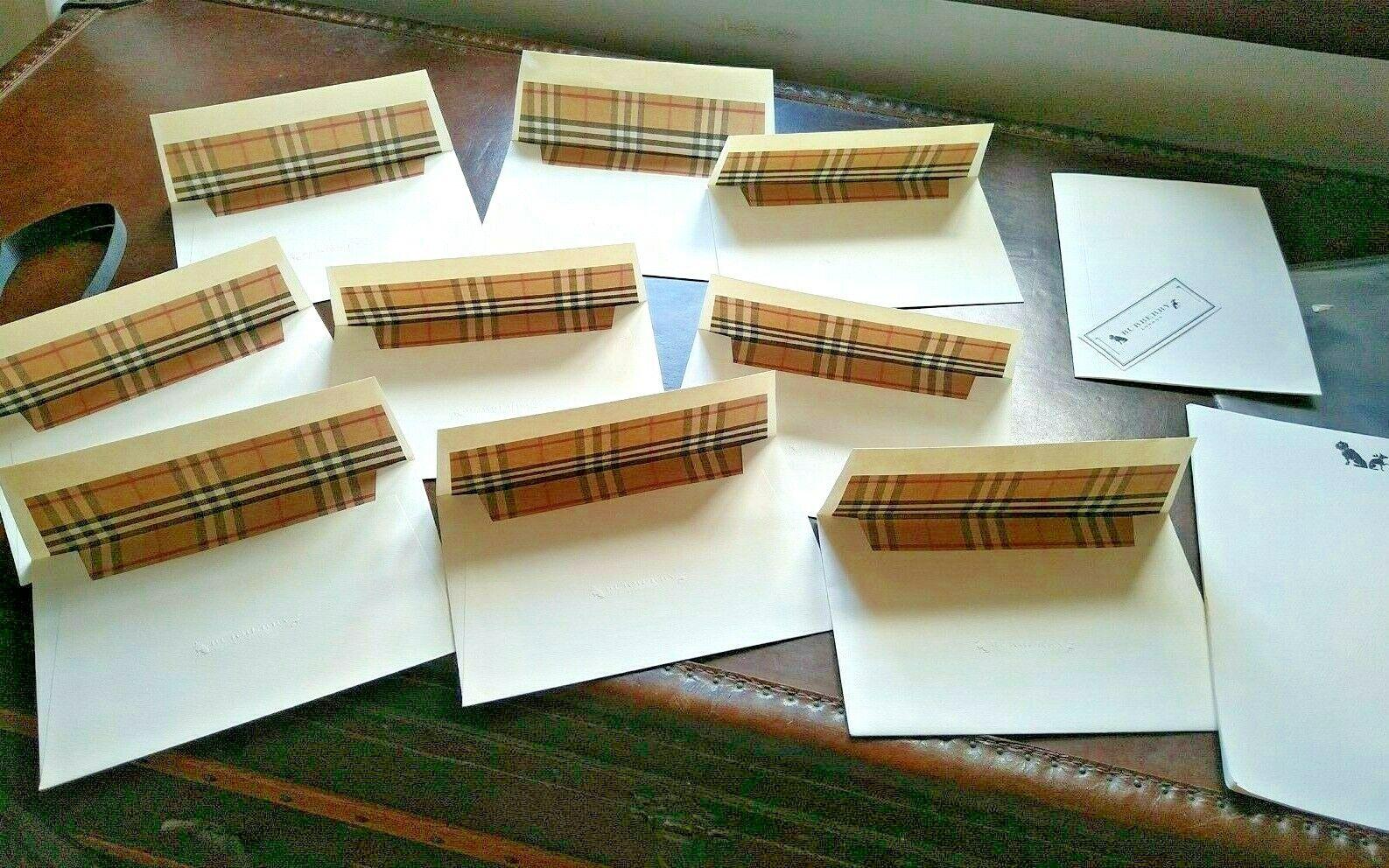 Burberry Writing Set - Envelope Paper Nova Check