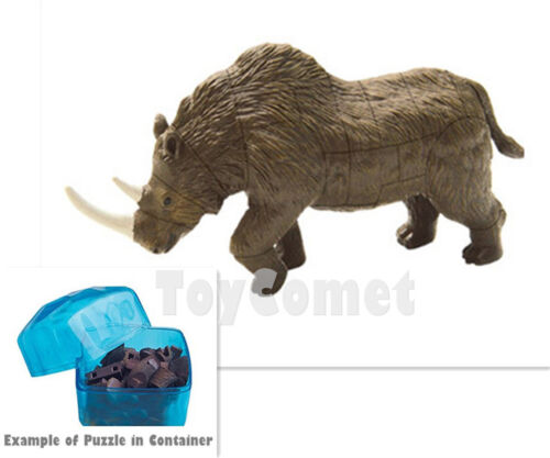 Woolly Rhino Ice Age Animal 4D 3D Puzzle Realistic Model Kit Toy