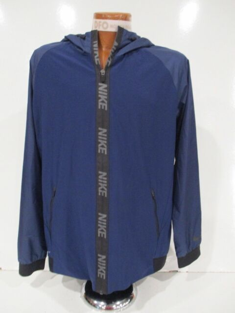8182b5e5 Nike Men's Dri-FIT Hooded Training Jacket Blue [800235 429] Size Large