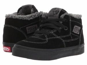 996936fe03 Image is loading Vans-HALF-CAB-Sherpa-Black-Black-Gray-Toddler-