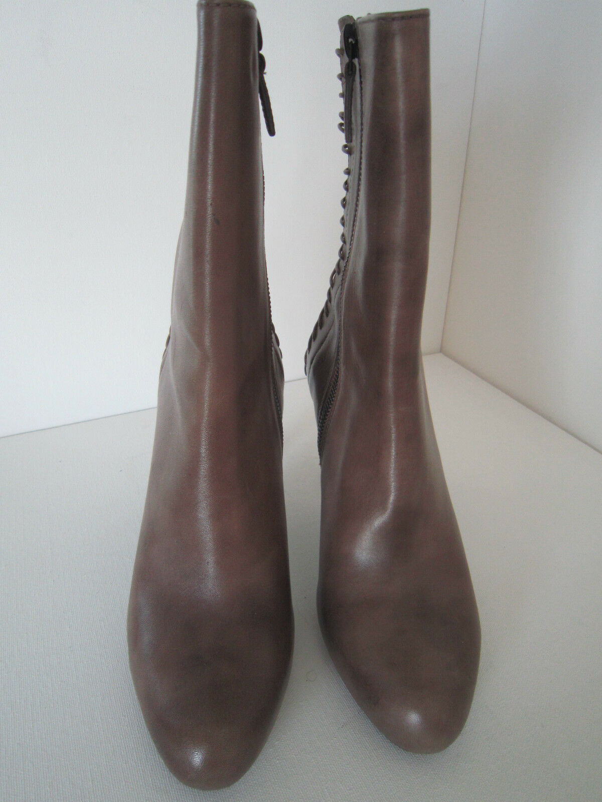 Cole Cole Cole Haan Maria Sharapova Euphemia Leather Heel Boot Greige 7B New  348 29848b