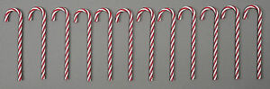 12-X-18CM-PLASTIC-TWISTED-RED-AND-WHITE-CANDY-CANES-CHRISTMAS-TREE-DECORATIONS