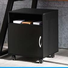 Mobile Under Desk Printer Stand With Wheels Rolling Printer Cart Cabinet Storage