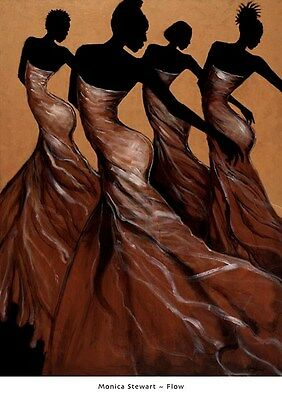 Chilling by Monica Stewart African American Art Print 32X26