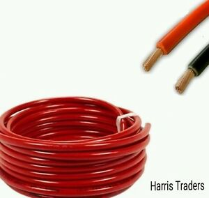 Red 110Amp 10M Reel Auto Battery Welding Cable Strand Wire Alternator Cable Flex