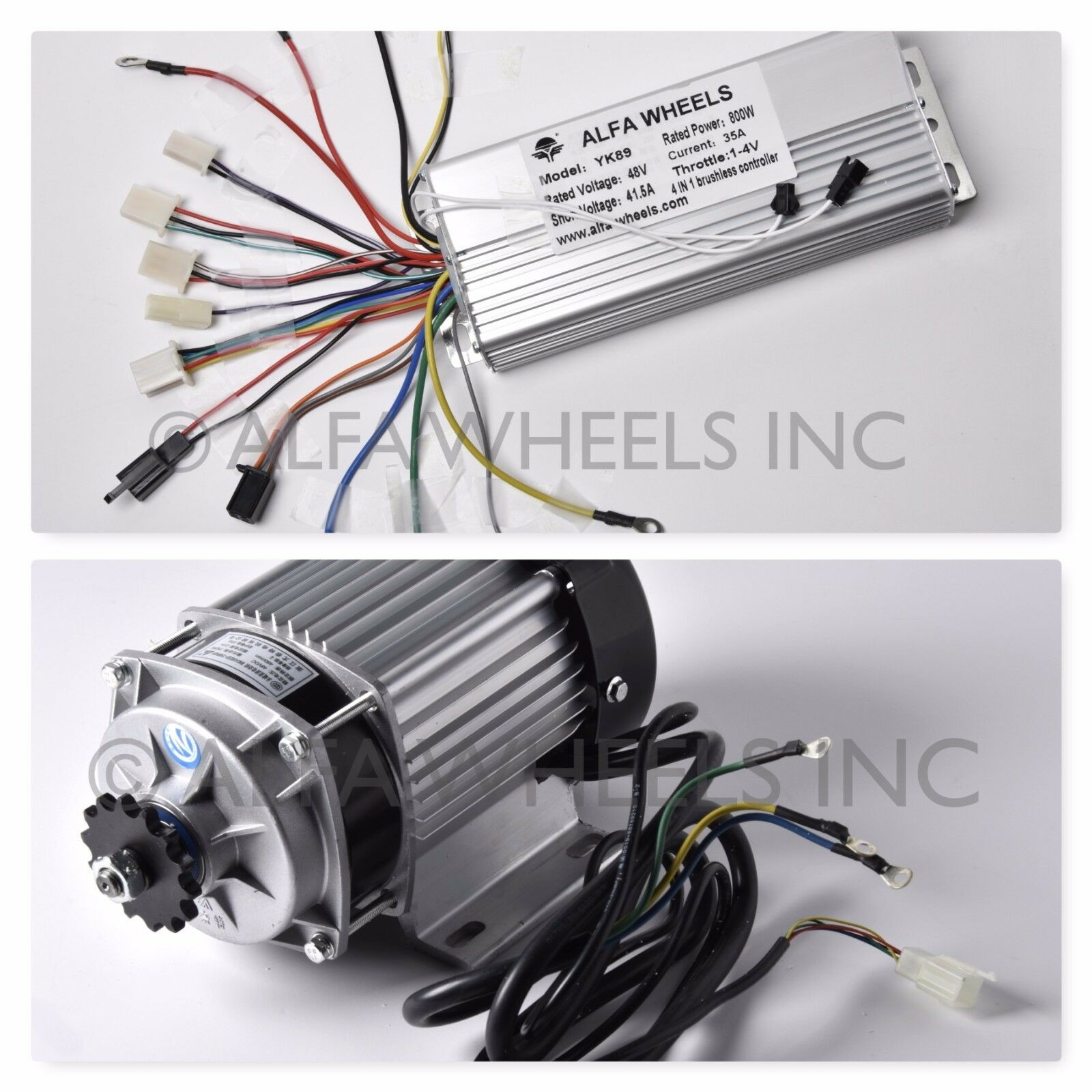 750W 48V Electric Motor Controller w rossouction Gear