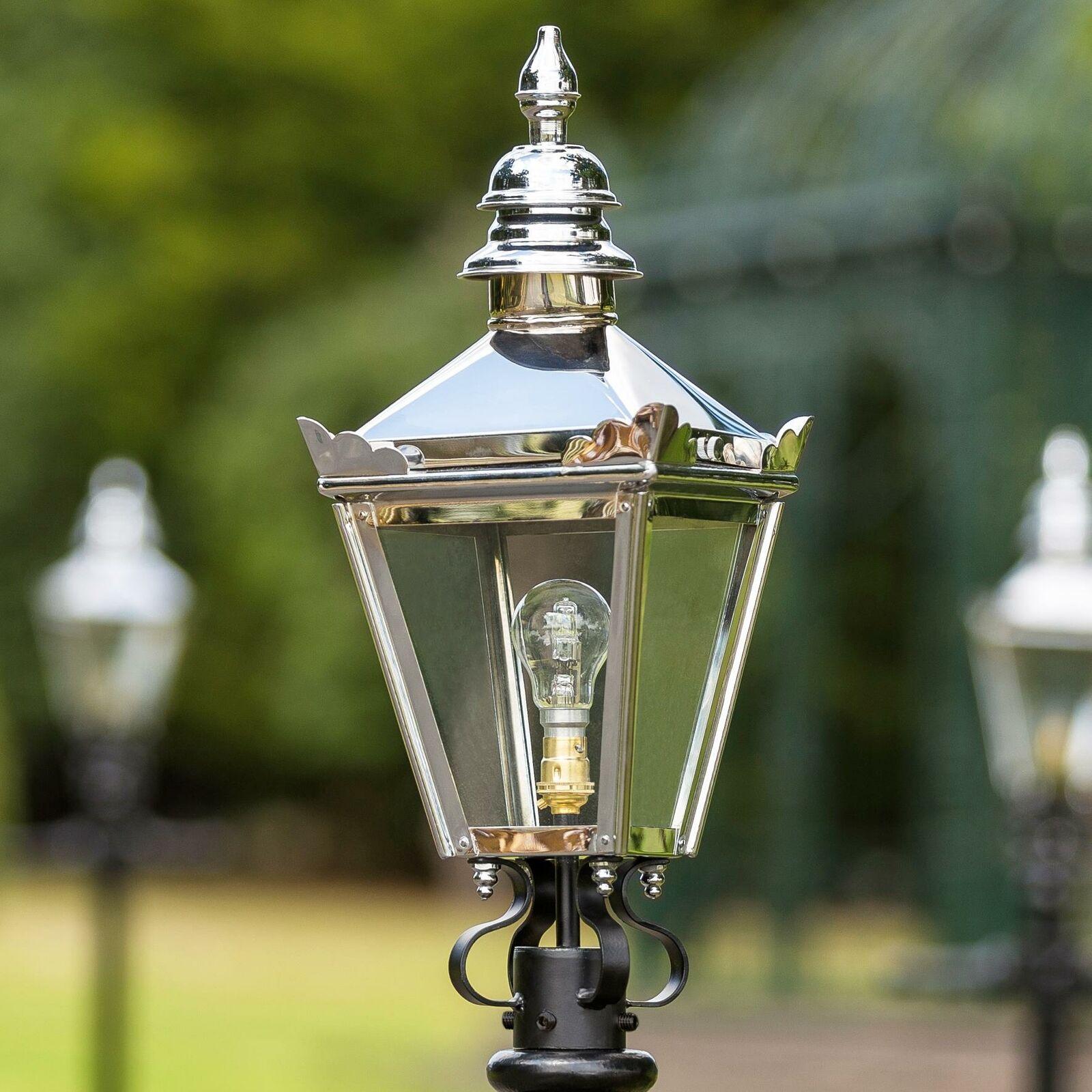 Bright Chrome Harrogate Lantern 54cm