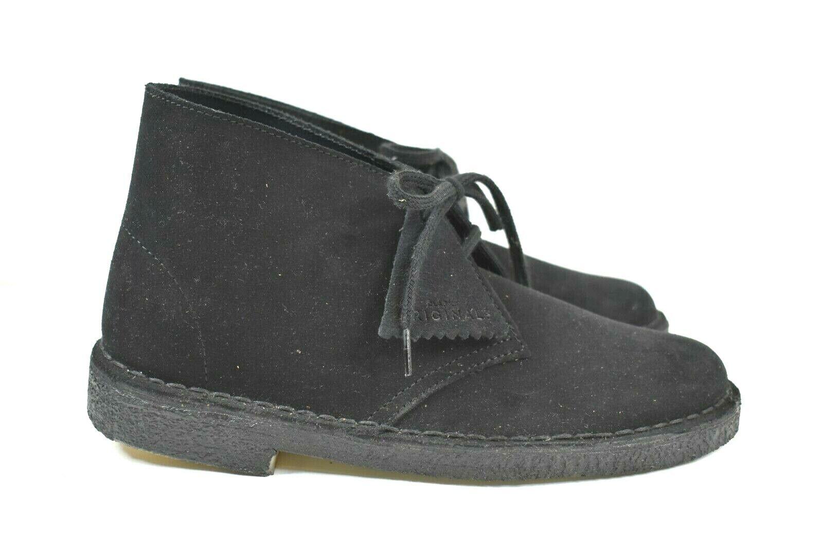 Clarks Women's Size 7.5 Lace Lace Lace Up Desert Boot Black Suede 26138214 b83126