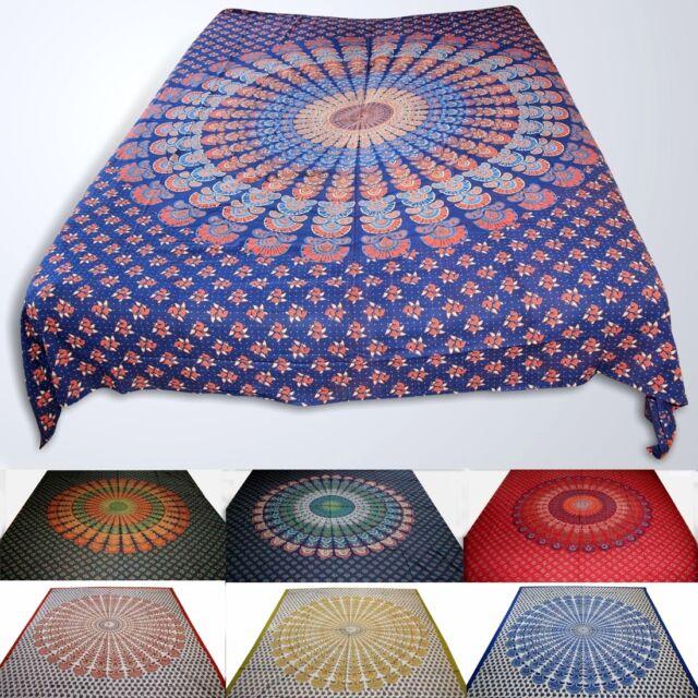 Tagesdecke-MANDALA INDIA-Wandbehang Bettüberwurf Decke indien goa hippie