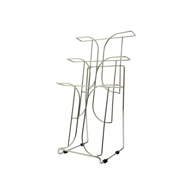 Lot of 12  Wire 10  3-Tier Magazine Holder Display Stand