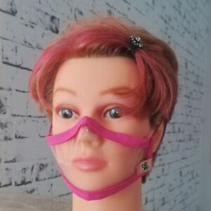Transparenter Mundschutz Gr S Damen, Jugendliche Hörgeschädigte MNS Maske