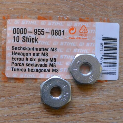 Genuine Stihl MS271 MS291 MS391 M8 x 2 Chainsaw Guide Bar Nuts Tracked Post