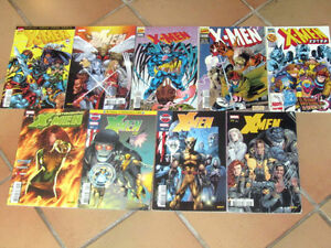 lot-9-albums-diverses-series-XMEN-decimation-semic-astoishing-X-men-Marvel