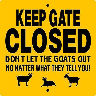 no goat sign 9 x 12