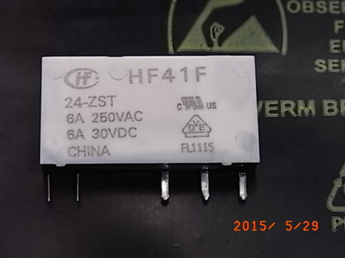 Hf41f//24-zst HONGFA BOBINE tensione coil voltage 24vdc 6a 250vac