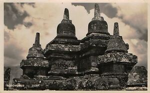 Postcard-Indonesia-Magelang-Java-Borobudur-Barabudur-RPPC-c1918-36-NrMINT