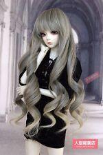 BJD muñeca peluca de pelo 9-10 pulgadas 22-24cm 1/3 Luz de DOD STUI gris SD DZ Amarillo F114