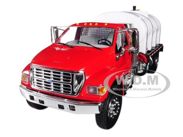 Ford F-650 con tanque de agua rojoo Moldeado Camión Rojo blancoo 1 34 por First Gear 10-4152