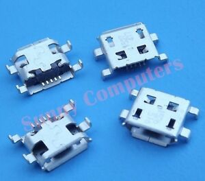 2x micro b usb socket port female plug replacement part for tablet