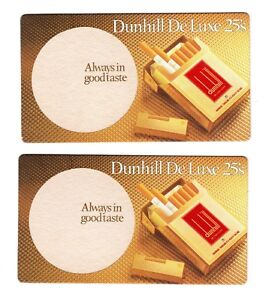 2-x-Dunhill-Deluxe-25-039-s-Vintage-Drink-Coasters-Beer-Mats-Tobacciana