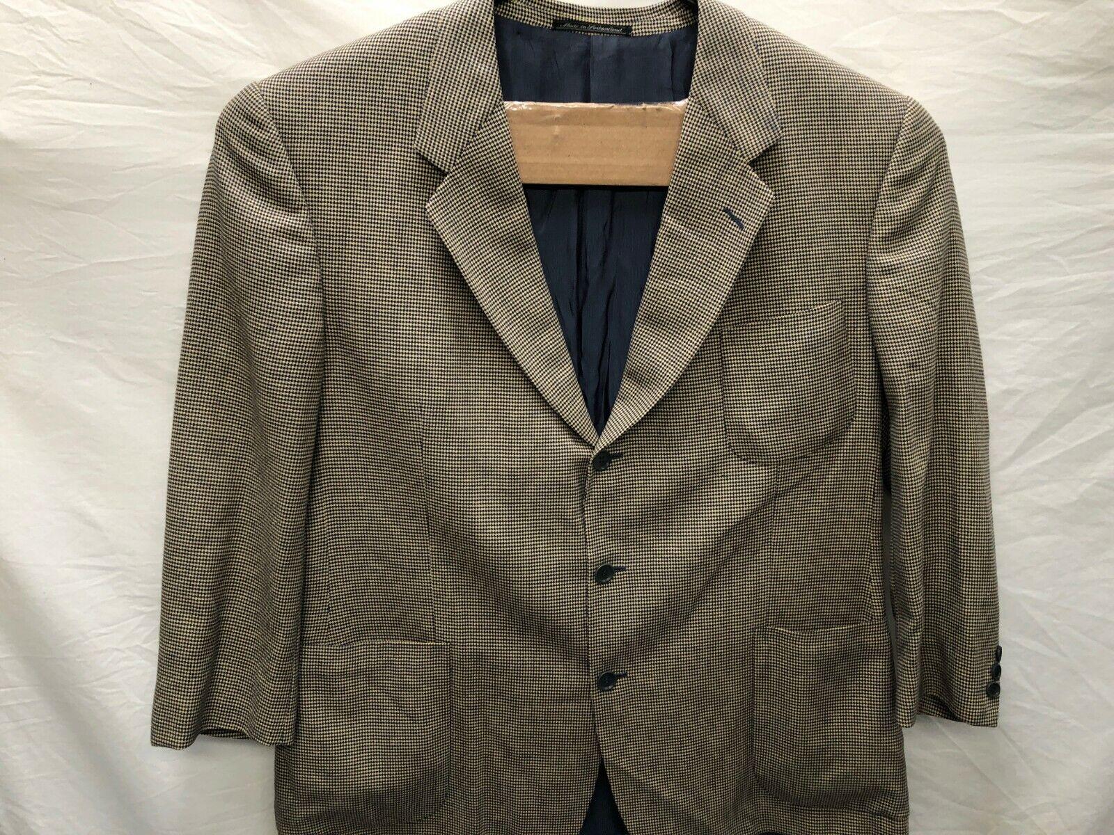Emenegildo Zegna 1819G0 Silk Wool Blend Mens Herringbone Sportscoat 58R Drop 7