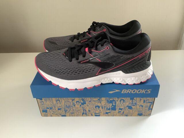 NEW Brooks Adrenaline GTS 19 Women's Running Shoes - Gray/Black/Pink - Sz 9.5
