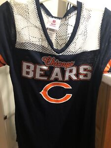 41967f00 Details about Teen Girls Size Large 11/13 NFL Chicago Bears Mesh Blue Tee  Shirt Top L