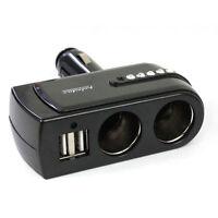 12V Car Cigarette 2-Port USB Charger 2 Way Lighter Power Socket Charger Adapter