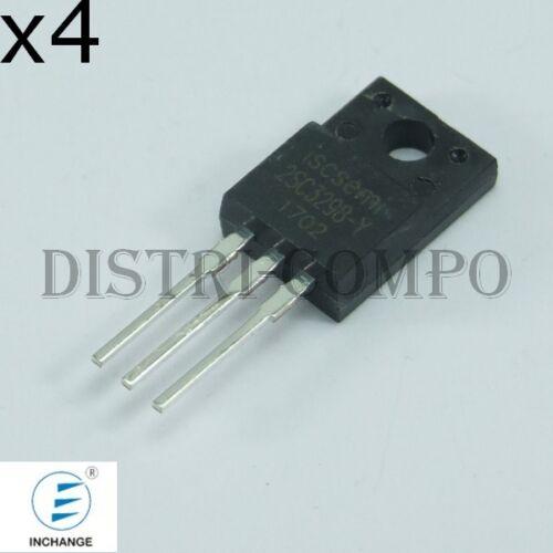 Lot de 4 2SC3298 Transistor NPN 160V 1.5A TO-220 Inchange RoHS
