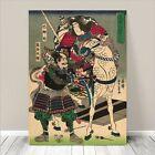 "Traditional Japanese SAMURAI Warrior Art CANVAS PRINT 8x12""~ Horse #228"