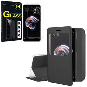 Etui-Coque-View-Case-Flip-Folio-Cover-Film-Verre-Xiaomi-Redmi-Note-5-5-99-034