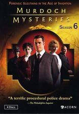 Murdoch Mysteries: Season 6 - 4 DISC SET (2013, DVD New) WS